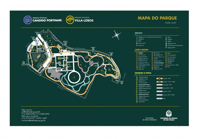 Mapa do Parque Villa Lobos